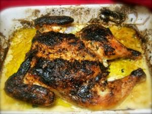Galinha Cafreal à Africana (Macanese African chicken)