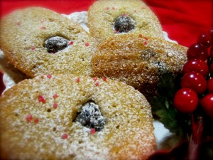 Cherry and Almond Madeleines
