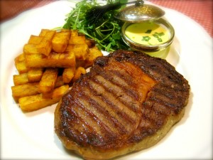 Steak with Bernaise Sauce