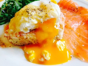 Salmon Egg Florentine